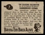 1950 Topps Bring Em Back Alive #7   The Blazing Destroyer Back Thumbnail