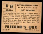 1950 Topps Freedoms War #68   Fast Shooting   Back Thumbnail