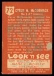 1952 Topps Look 'N See #72  Cyrus H. McCormick  Back Thumbnail