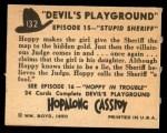 1950 Topps Hopalong Cassidy #132   Stupid sheriff Back Thumbnail