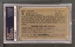 1952 Bowman Large #30  Sammy Baugh  Back Thumbnail