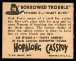 1950 Topps Hopalong Cassidy #28   Ready guns Back Thumbnail