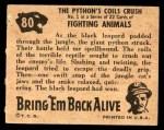 1950 Topps Bring Em Back Alive #80   The Python's Coils Crush Back Thumbnail