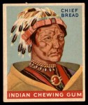 1947 Goudey Indian Gum #68   Chief Bread Front Thumbnail