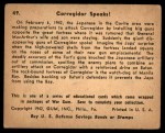 1941 Gum Inc. War Gum #49   Corregidor Speaks Back Thumbnail