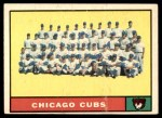 1961 Topps #122   Cubs Team Front Thumbnail