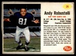 1962 Post Cereal #26  Andy Robustelli  Front Thumbnail