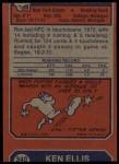 1973 Topps #350  Ron Johnson  Back Thumbnail