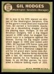 1967 Topps #228  Gil Hodges  Back Thumbnail