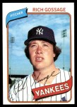 1980 Topps #140  Goose Gossage  Front Thumbnail