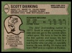 1978 Topps #206  Scott Dierking  Back Thumbnail