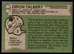 1978 Topps #276  Diron Talbert  Back Thumbnail