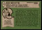 1978 Topps #163  Ed White  Back Thumbnail