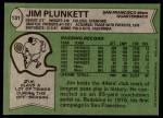 1978 Topps #131  Jim Plunkett  Back Thumbnail