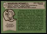 1978 Topps #141  Marvin Powell  Back Thumbnail