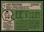 1978 Topps #448  Lou Piccone  Back Thumbnail