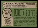 1978 Topps #119  Doug Kotar  Back Thumbnail