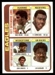 1978 Topps #521   Eagles Leaders Checklist Front Thumbnail