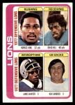 1978 Topps #509   -  Horace King / David Hill / James Hunter / Ken Sanders Lions Leaders & Checklist Front Thumbnail