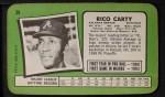 1971 Topps Super #29  Rico Carty  Back Thumbnail