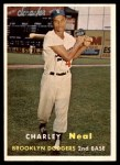 1957 Topps #242  Charlie Neal  Front Thumbnail