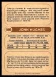 1976 O-Pee-Chee WHA #106  John Hughes  Back Thumbnail