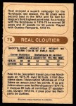 1976 O-Pee-Chee WHA #76  Real Cloutier  Back Thumbnail