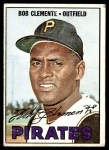 1967 Topps #400  Roberto Clemente  Front Thumbnail