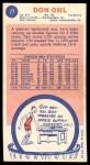 1969 Topps #77  Don Ohl  Back Thumbnail