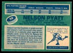 1976 O-Pee-Chee NHL #98  Nelson Pyatt  Back Thumbnail