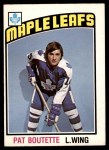 1976 O-Pee-Chee NHL #367  Pat Boutette  Front Thumbnail