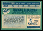 1976 O-Pee-Chee NHL #198  Dwight Bialowas  Back Thumbnail