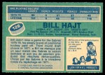 1976 O-Pee-Chee NHL #128  Bill Hajt  Back Thumbnail