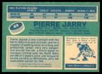 1976 O-Pee-Chee NHL #49  Pierre Jarry  Back Thumbnail
