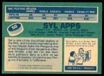 1976 O-Pee-Chee NHL #50  Syl Apps  Back Thumbnail