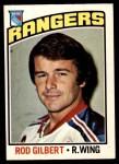 1976 O-Pee-Chee NHL #90  Rod Gilbert  Front Thumbnail