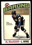 1976 O-Pee-Chee NHL #237  Al MacAdam  Front Thumbnail