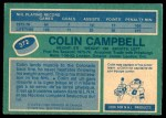 1976 O-Pee-Chee NHL #372  Colin Campbell  Back Thumbnail