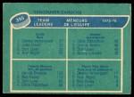 1976 O-Pee-Chee NHL #395   -  Dennis Ververgaert / Chris Oddleifson / Dennis Kearns / Harold Snepsts Canucks Leaders Back Thumbnail