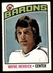 1976 O-Pee-Chee NHL #18  Wayne Merrick  Front Thumbnail