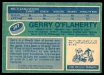 1976 O-Pee-Chee NHL #287  Gerry O'Flaherty  Back Thumbnail