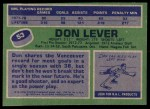 1976 Topps #53  Don Lever  Back Thumbnail