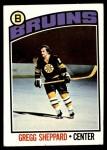 1976 Topps #155  Gregg Sheppard  Front Thumbnail