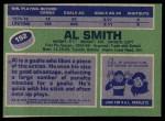 1976 Topps #152  Al Smith  Back Thumbnail