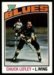 1976 Topps #63  Chuck Lefley  Front Thumbnail