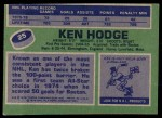 1976 Topps #25  Ken Hodge  Back Thumbnail