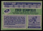 1976 Topps #58  Fred Stanfield  Back Thumbnail