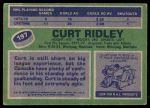 1976 Topps #197  Curt Ridley  Back Thumbnail