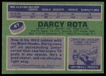 1976 Topps #47  Darcy Rota  Back Thumbnail