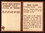 1967 Philadelphia #149  Mike Clark  Back Thumbnail